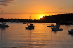 ulladulla harbour at sunrise