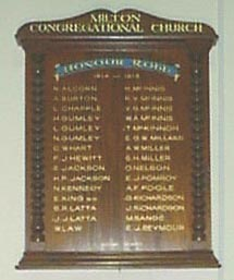 congregational Church honour roll