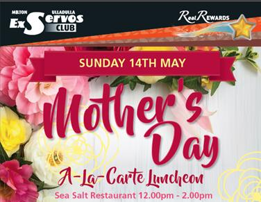 Mother Day A-La Carte Luncheon